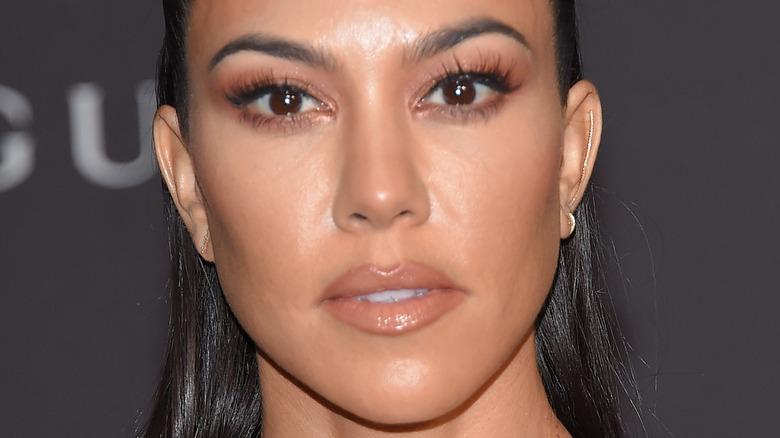 close up of Kourtney Kardashian