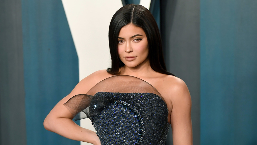 Kylie Jenner poses in gown