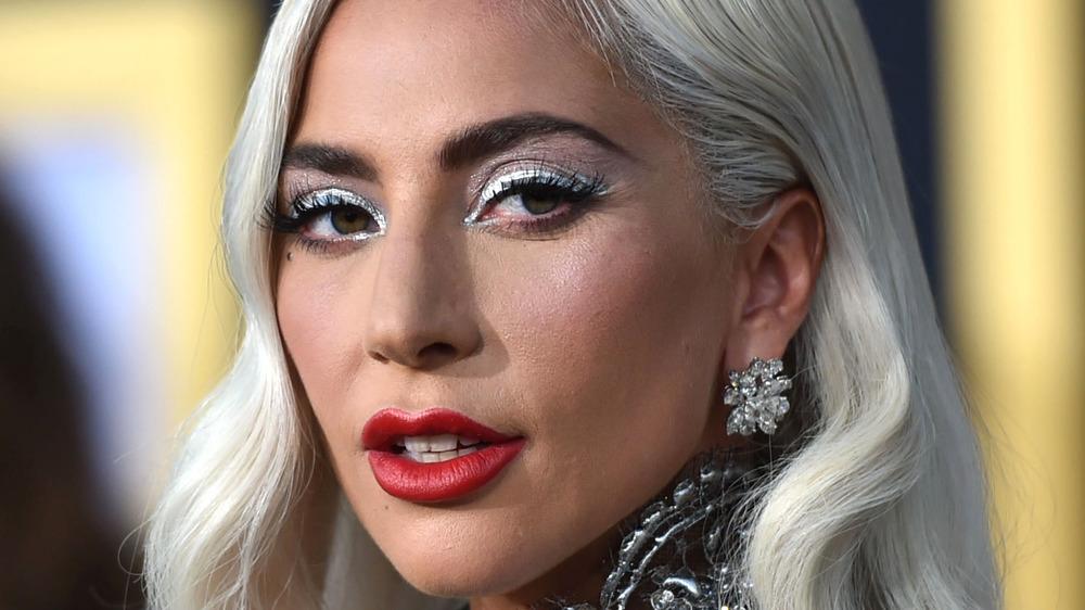 Lady Gaga, with glam make up