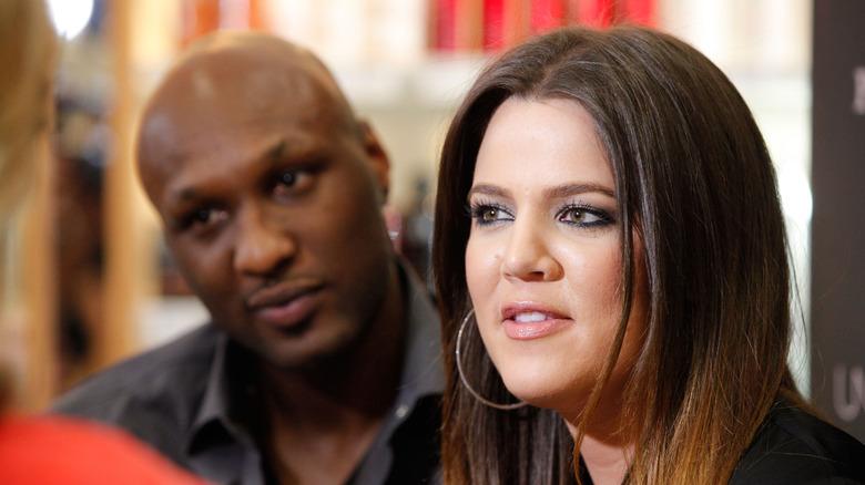 Lamar Odom and Khloé Kardashian speaking