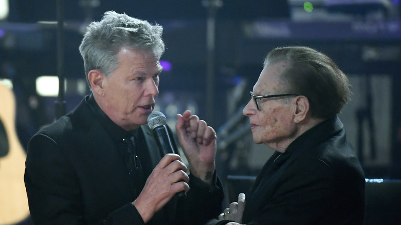 Larry King and David Foster