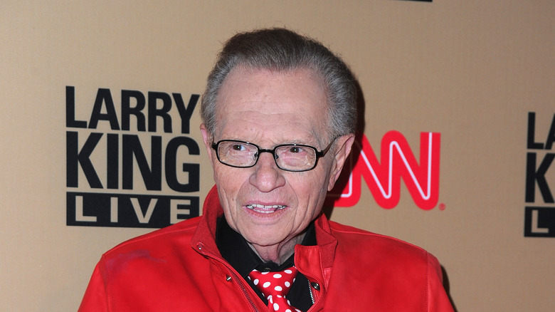 Larry King at his final CNN broadcast party