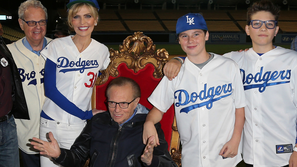 Larry King with his sons Chance and Cannon and ex-wife Shawn Southwick