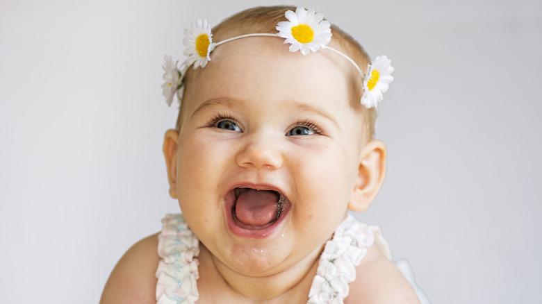 smiling laughing baby