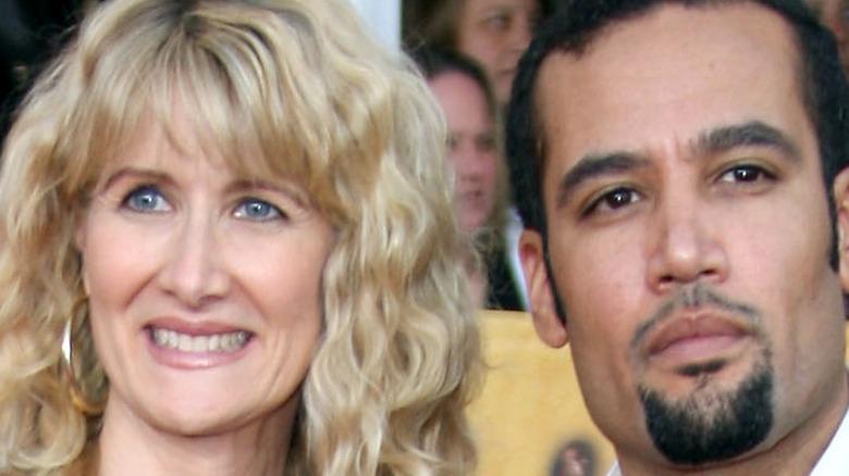 Laura Dern stands with ex-husband Ben Harper