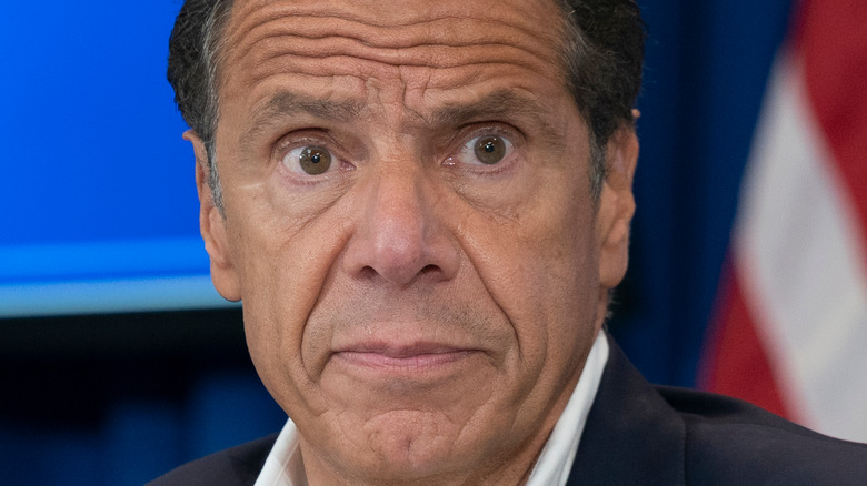Andrew Cuomo looking surprised