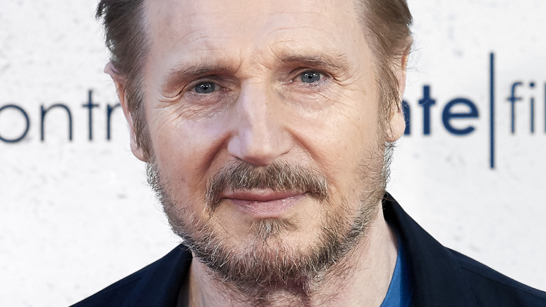 Liam Neeson on a red carpet