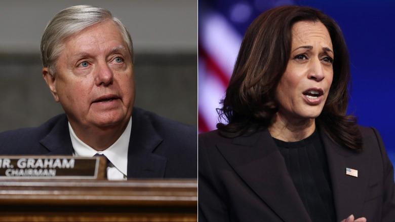 Senators Lindsey Graham and Kamala Harris