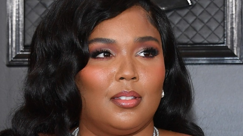Lizzo posing on the red carpet