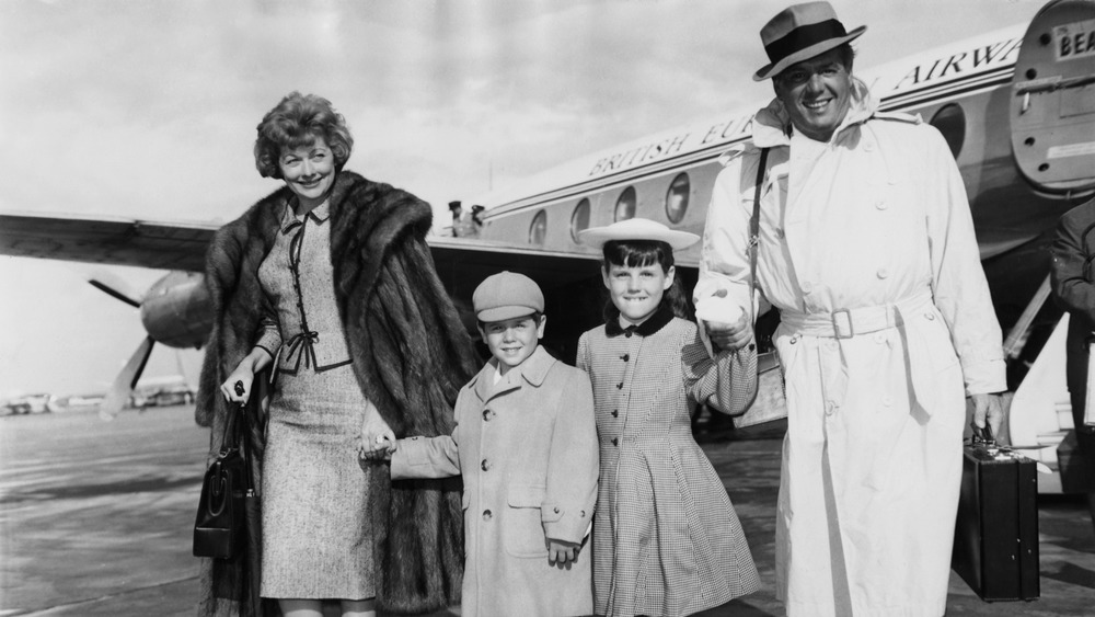 Lucille Ball, Desi Arnaz, and their two kids including Lucie