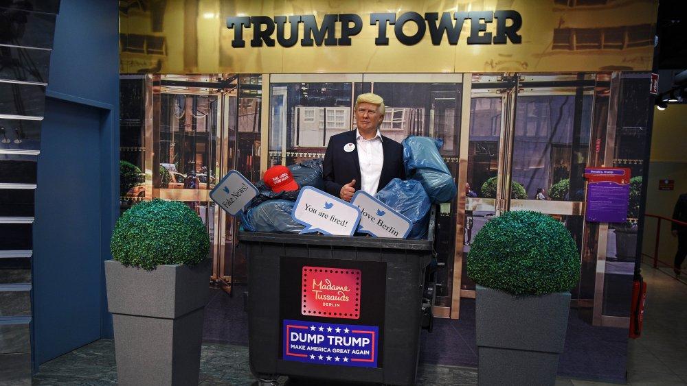 Donald Trump in a dumpster