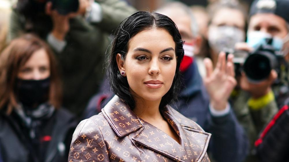 Georgina Rodriguez at Paris Fashion Week