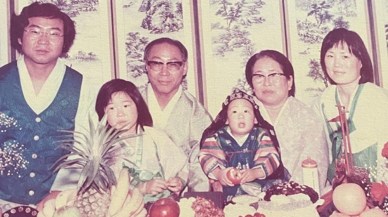 Margaret Cho as a child with her family