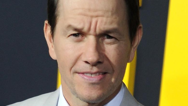 Mark Wahlberg squinting at the camera