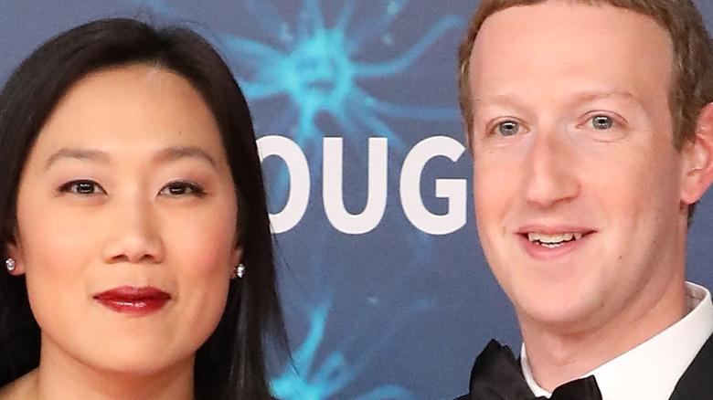 Facebook CEO Mark Zuckerberg with Priscilla Chan