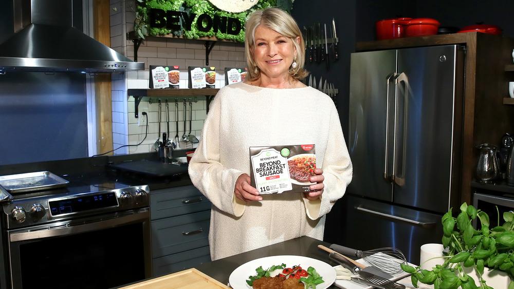 Martha Stewart in her kitchen