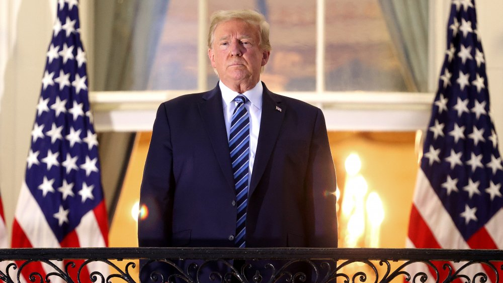 Donald Trump on the balcony