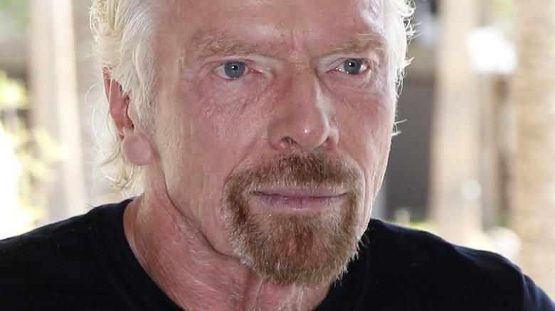 Richard Branson in Las Vegas, wearing black t shirt
