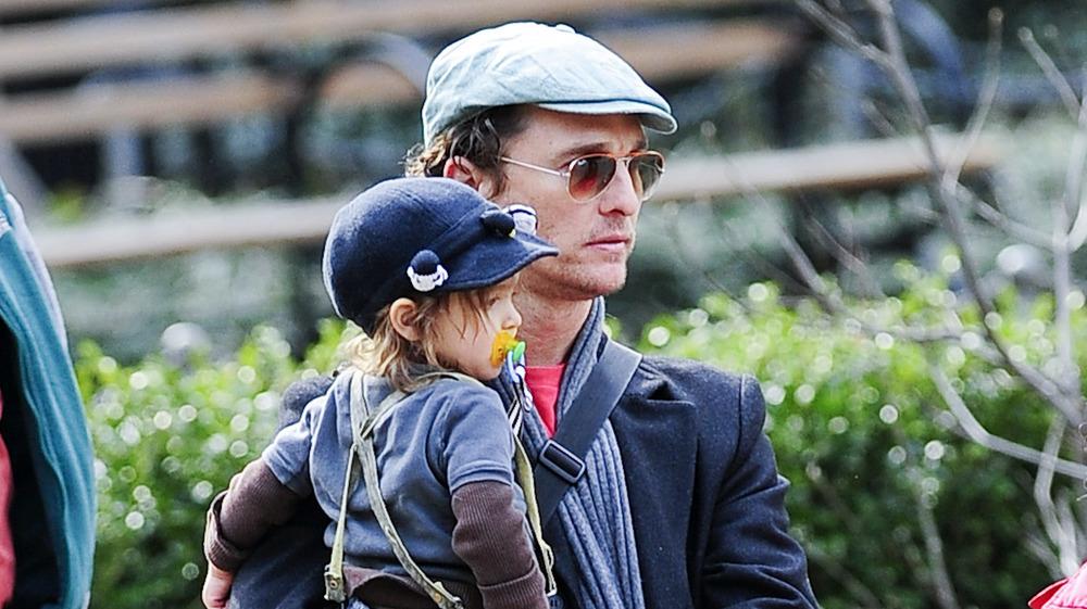 Matthew McConaughey with his son Levi