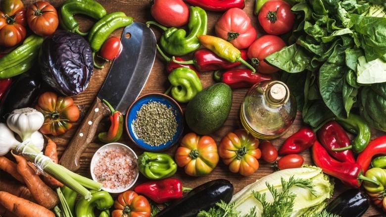 vegetables vegetarian meatless