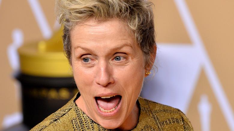 Frances McDormand in good spirits at the 2021 Oscars