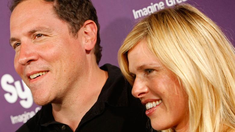 Jon Favreau and Joya Tillem on red carpet
