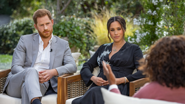 Harry and Meghan with Oprah