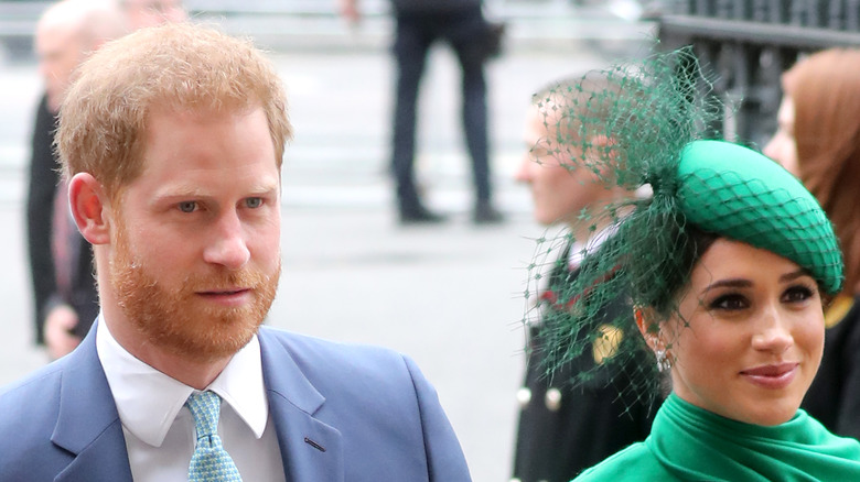 Meghan and Harry green hat