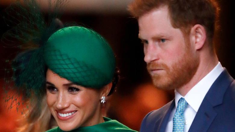 Meghan and Harry attending an event