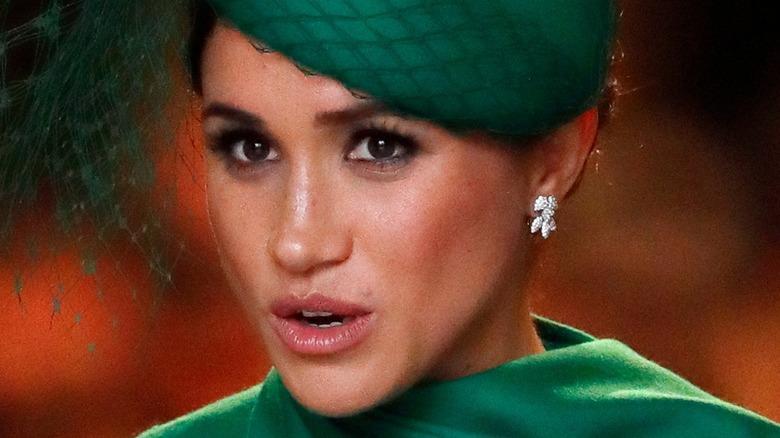Meghan Markle green fascinator