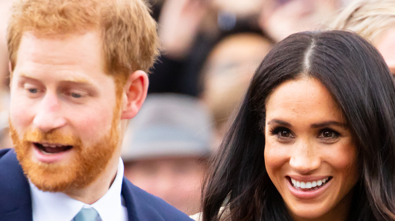 Prince Harry and Meghan Markle in public.