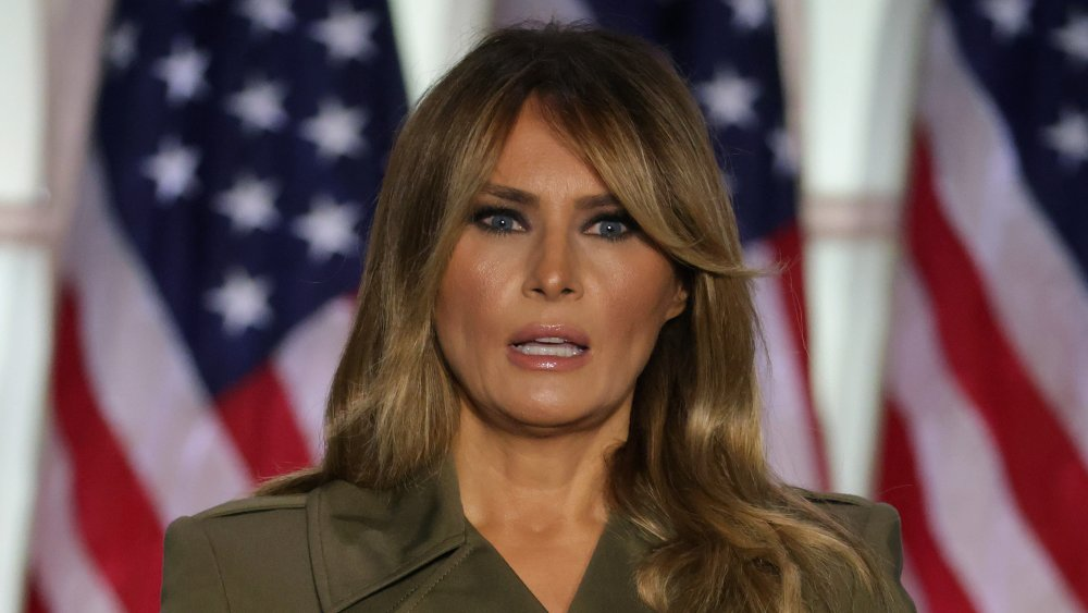 Melania Trump delivers her RNC speech at the Rose Garden