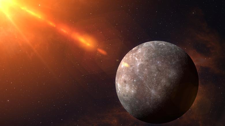 Mercury near sun