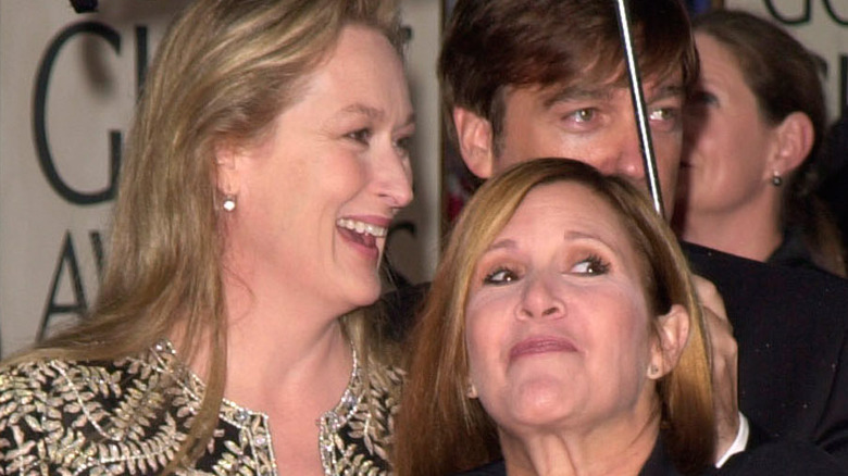 Meryl Streep and Carrie Fisher together