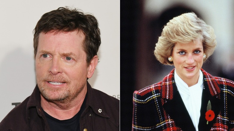 Michael J. Fox and Princess Diana