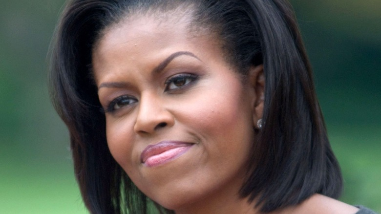 Michelle Obama at outdoor event