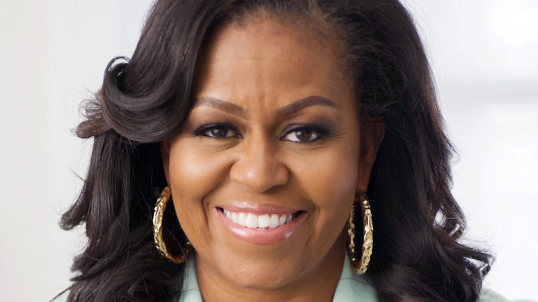 Former First Lady Michelle Obama smiling
