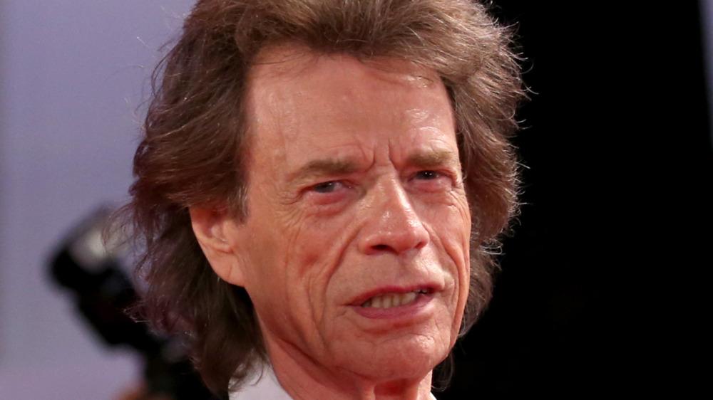 Mick Jagger posing