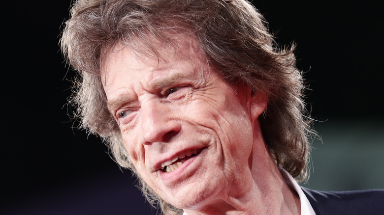 Mick Jagger smiling