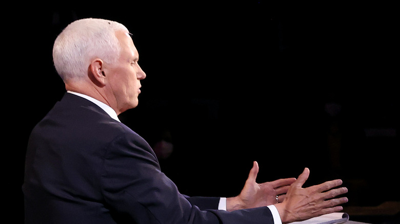 Fly on Pence's head