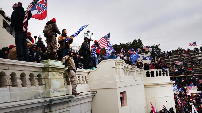 January 6 insurrection outside the Capitol