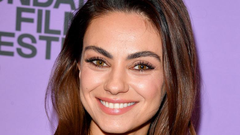 Mila Kunis, close-up