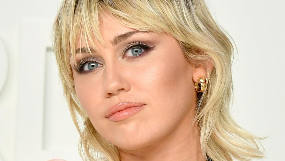 Miley Cyrus at a fashion show