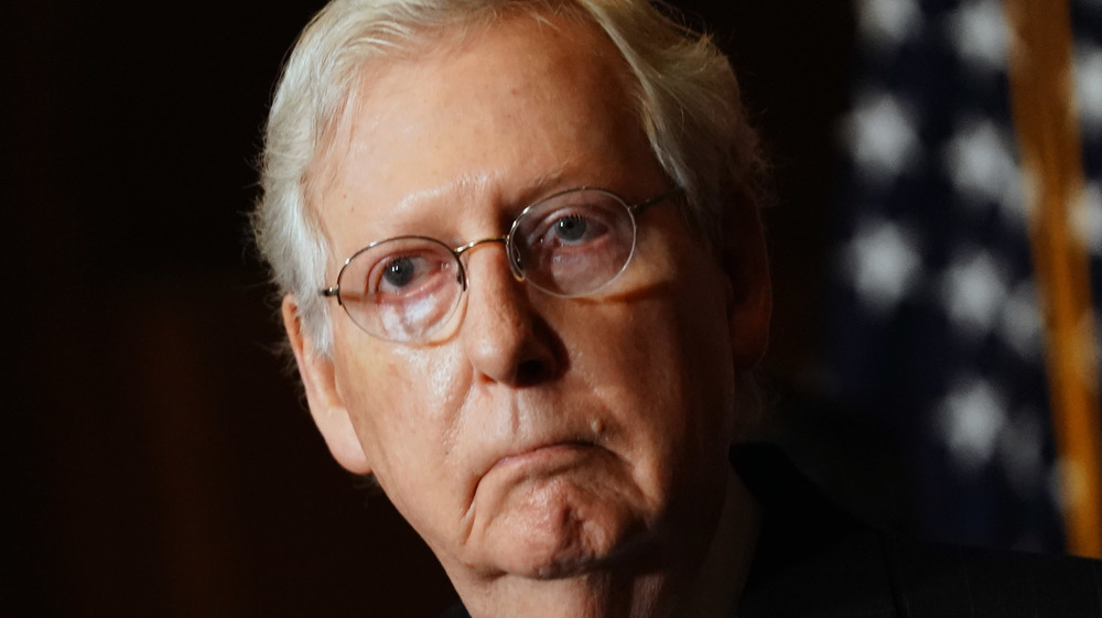 Mitch McConnell on the Senate floor