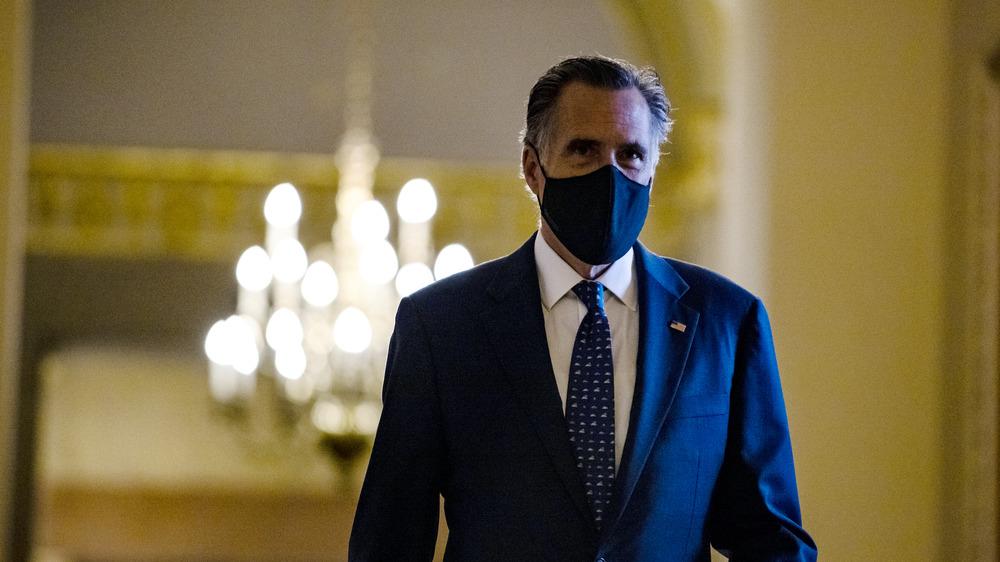 Mitt Romney wearing a mask