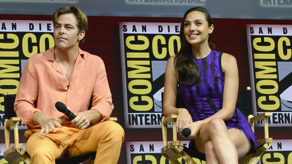 Chris Pine and Gal Gadot at Comic-Con