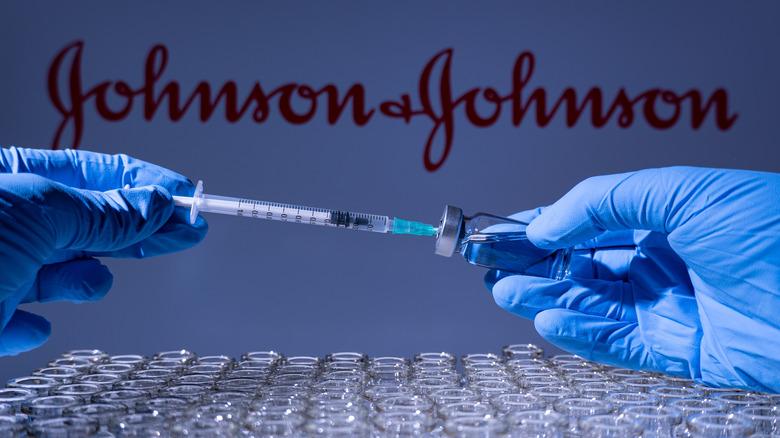 vials of Johnson & Johnson vaccine