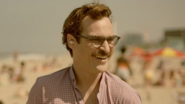 Joaquin Phoenix at the beach in Her