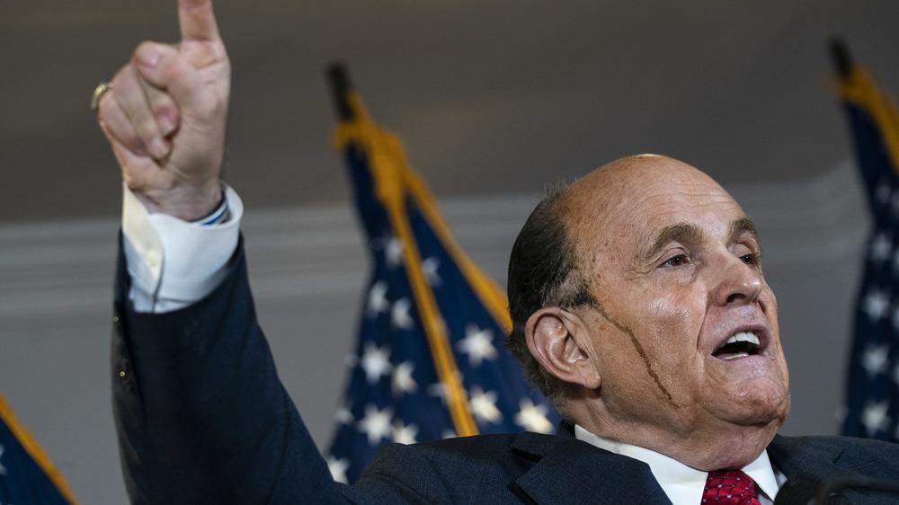 Rudy Guiliani speaking in 2020
