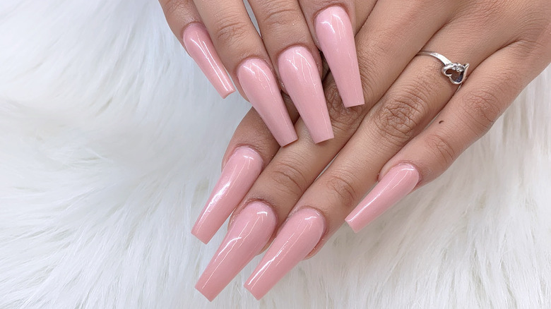 Coffin-shaped nails